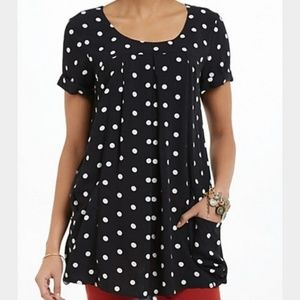 Anthropologie • Holding Horses Polka Dot Tunic